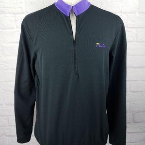FILA Long Sleeve 1/2 Zip Cycling Men's Shirt